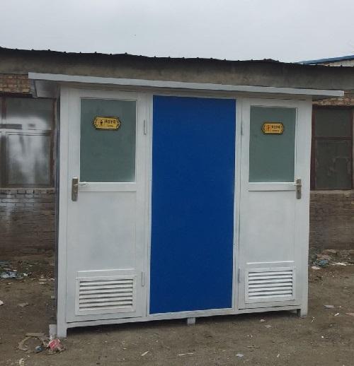 包头市白云鄂博矿区公园定做两厕位齐乐老虎机卫生间发货